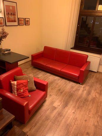 Komplet sofa i dwa fotele