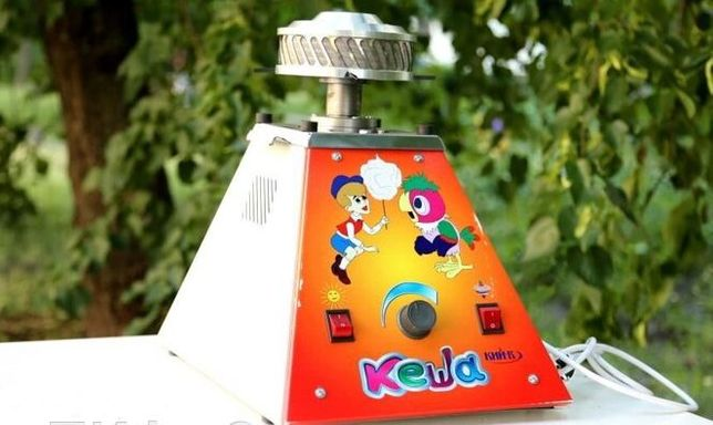 Аппарат для сахарной ваты КИЙ-В УСВ-4 (Кеша и Вова) + Тележка