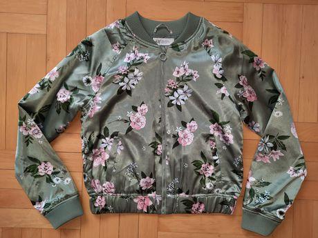H&M kurtka wiosenna bomberka w kwiatki 146 jak nowa