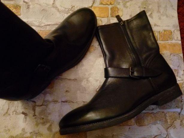 Мужские кожание ботинки, сапожки. Италия.