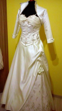 Suknia ślubna r 36 175cm tren