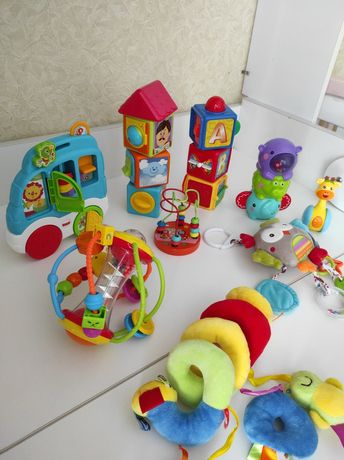 Игрушки развивающие лот игрушек погремушки fisher prise