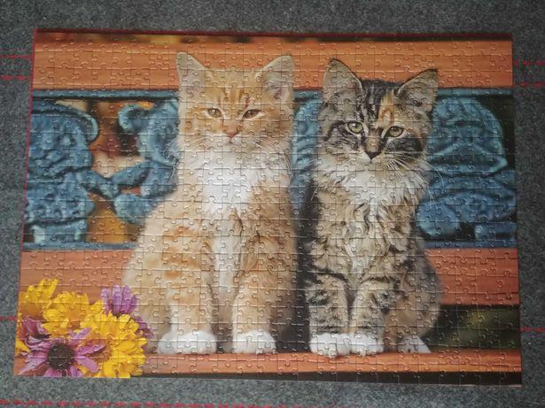 Puzzle koty 500 elementów