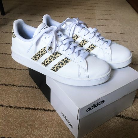Adidas Originals - Ténis P/ Mulher Grand Court Leopardo - Tamanho 42