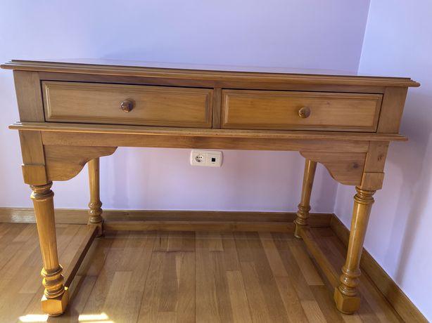 Mesa de escritório quarto em madeira maciça faia