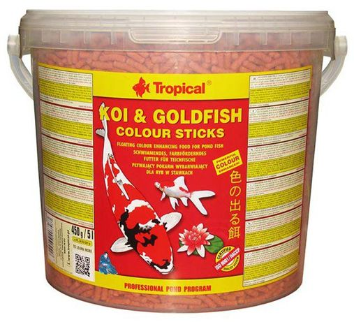 Tropical KOI & GOLDFISH Colour Sticks 5L- 450g