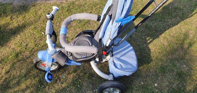 Rowerek dziecięcy dla dziecka trójkołowy chłopiec pedały daszek