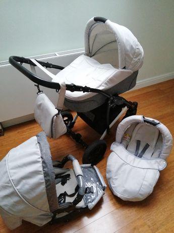 Wózek dziecięcy 3w1+akcesoria