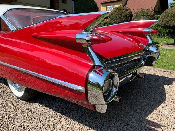 Cadillac 1959, 55 auto samochód do ślubu wesele wynajem wypożyczalnia