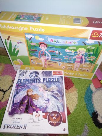 Puzzle dla 4 latki Frozen II i edukacyjne