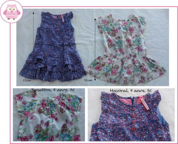 3-4Anos Menina Primavera/Verão - boleros, saias e vestidos