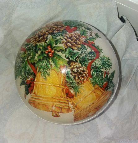 Bąbki świąteczne zdobione metodą decoupage