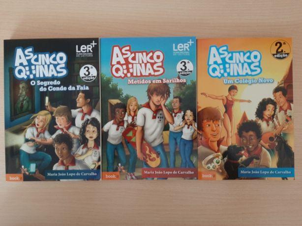 """3 livros """"As 5 quinas"""""""