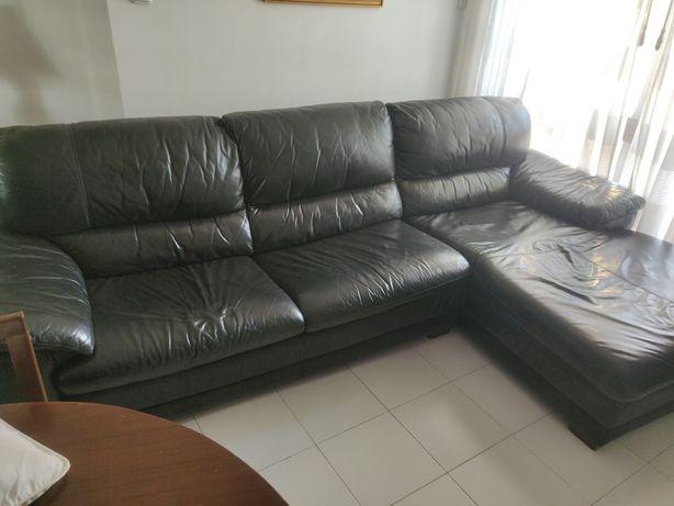 Sofá chaise lounge pele