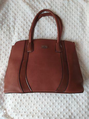 Классическая женская сумка коричневого цвета (новая)