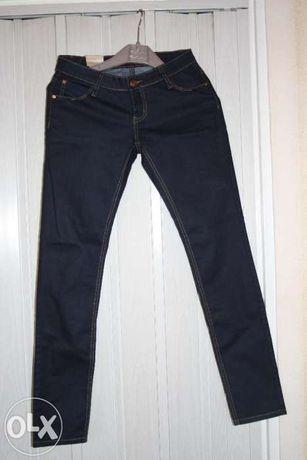 Nowe jeansy granatowe rurki rozmiar S