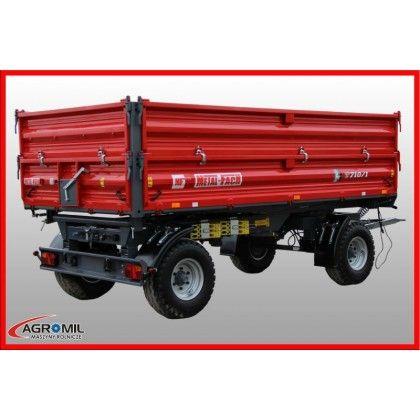 Przyczepa rolnicza dwuosiowa 8 ton wywrotka METAL-FACH T 710/2