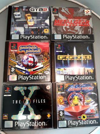 Jogos para a PlayStation/PS1: GTA, Metal Gear Solid, X-Files