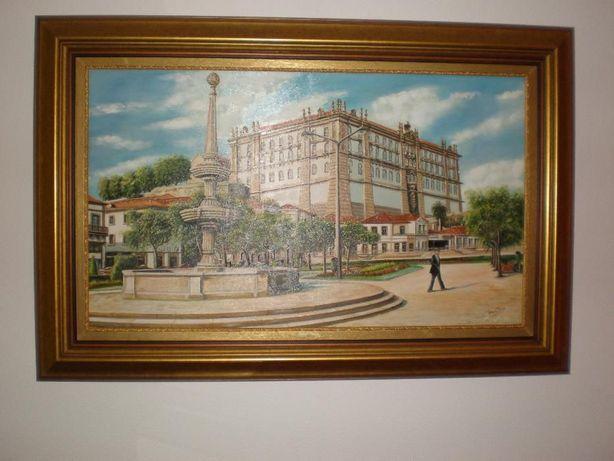 quadro do mosteiro santa clara vila do conde pintado a óleo