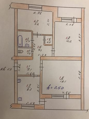 Продаю 3-х комнатную квартиру, ул. Мира 2а, г.Николаевка,Слав.р-н,Дон
