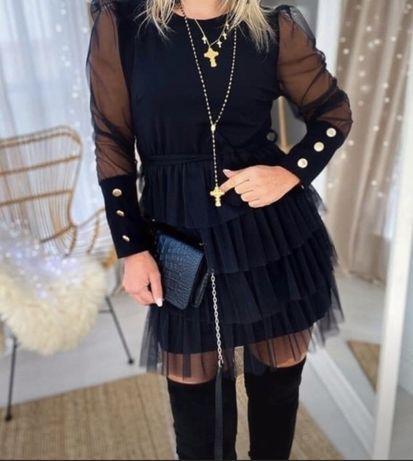 Piękna czarna sukienka