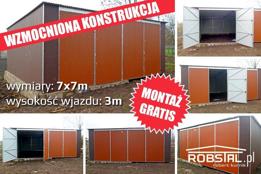 Magazyn blaszany garaż blaszak podwyższony PRODUCENT hale wiaty Ostrołęka - image 1