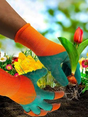 Рукавиці садові з кігтями, перчатки садовые