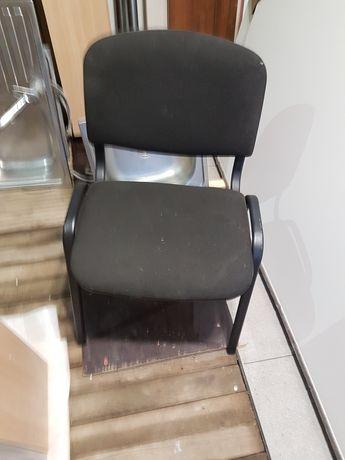 Krzesło czarne odbicie z tkaniny