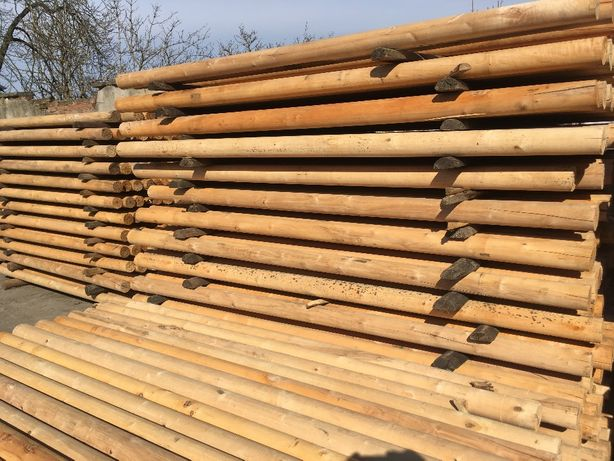słupki drewniane paliki kołki bale 2,3m ze Swadzimia HIT