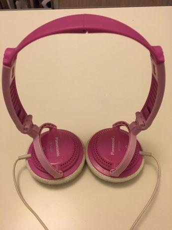 Słuchawki nauszne panasonic różowe