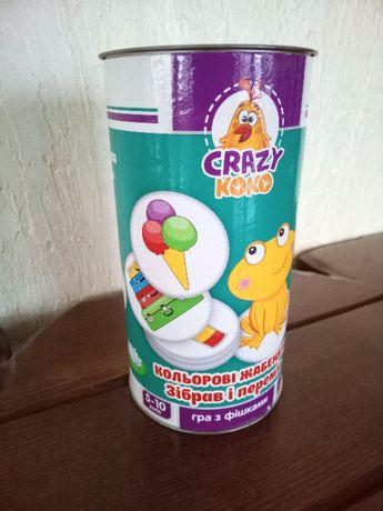 """Гра """"Кольорові жабенята"""". Vladi Toys. Crazy koko"""