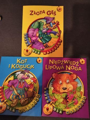 """""""Złota gęś"""", """"Kot i kogucik"""",""""Niedźwiedź lipowa noga"""" pakiet 3 książek"""