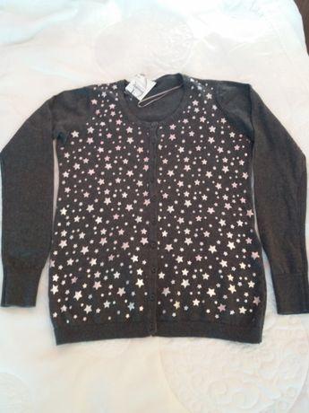 Nowy sweterek, bluzka rozpinany 40