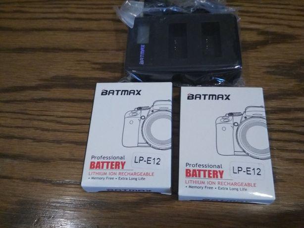 Batmax LP-E12 2 шт и двойное зарядное устройство USB для Canon