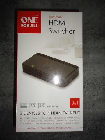 Switch 3x HDMI, 3D, 4K (Novo a estrear)