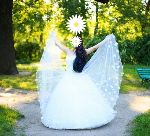 Шикарное СВАДЕБНОЕ ПЛАТЬЕ, состояние НОВОГО(Весільна сукня) + ПОДАРКИ