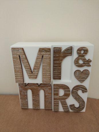 Moldura decorativa Casamento Mr & Mrs