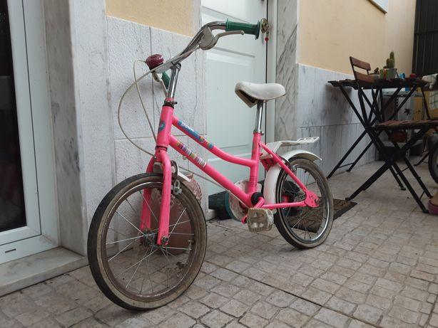 Bicicleta criança barbie