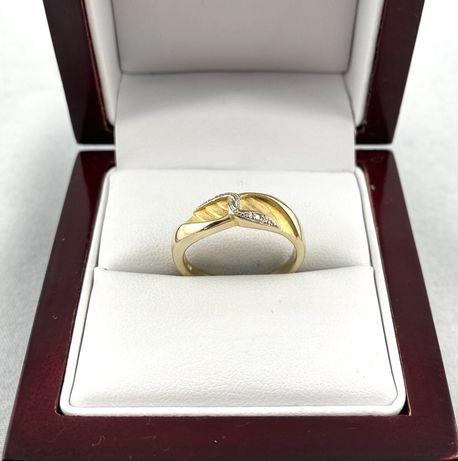 Wspaniały ZŁOTY pierścionek PR. 333 (8K), rozmiar 14