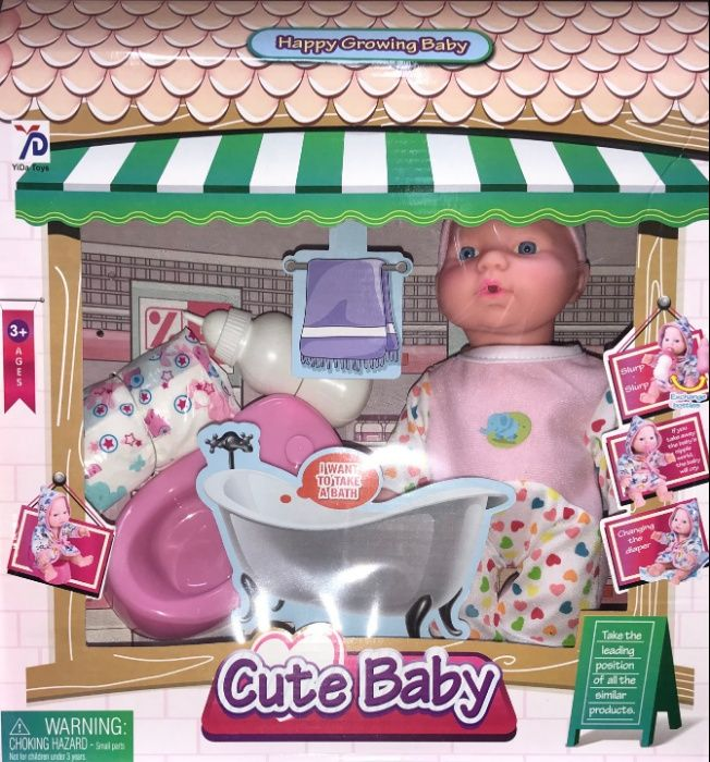 Lalka Bobas Cute Baby 2 Akcesoria Zabawka