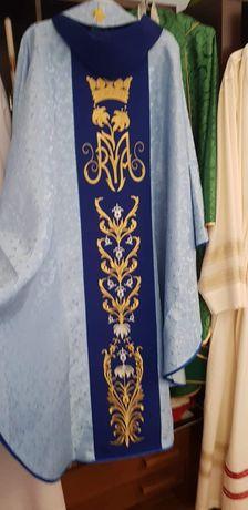 Ornat maryjny haftowany
