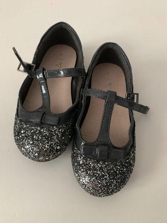 Туфли серебряные Next 7, 14,5 см