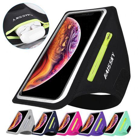 Спортивный чехол на руку для бега фитнеса для больших телефонов до 6,8