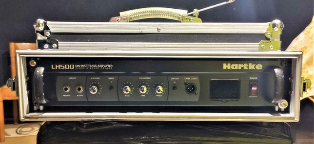Hybrydowy wzmacniacz do gitary basowej Hartke LH-500 + rack Warwick
