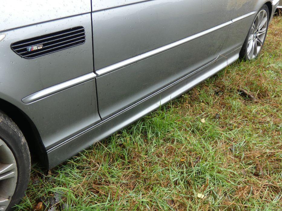 Bmw e46 coupe cabrio listwy progowe m pakiet progi silber grau Wołów - image 1
