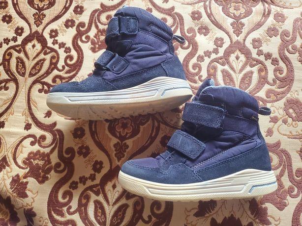 Кожаные термо ботинки Ecco сапоги  полуботинки Экко черевики Gore-Tex