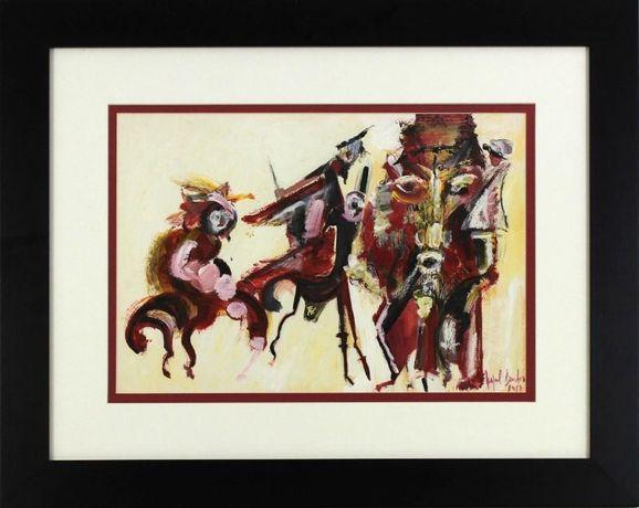Quadro do pintor de renome Miguel Barbosa