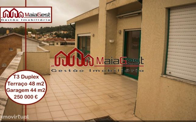T3 duplex | Terraço | Garagem 43 m2 | MaiaGest