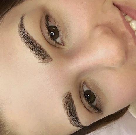 Перманентный макияж бровей