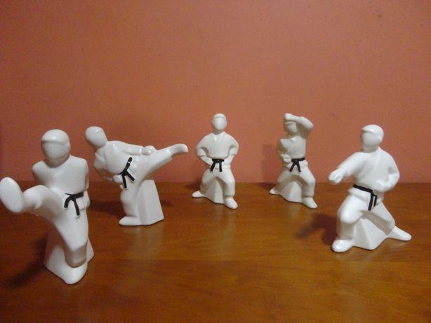 6 Estatuetas Karatekas em faiança